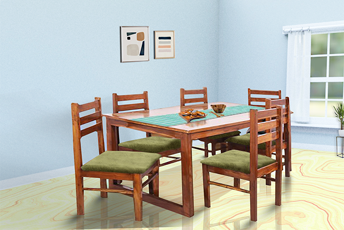 TR MADEIRA DINING TABLE & CHAIRS (6 SEATS)